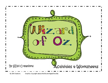 Wizard of Oz Activities & Worksheets | Worksheets, Activities and ...
