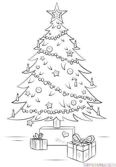 Realistic Christmas Tree Drawing : realistic, christmas, drawing, Сhristmas, Step., Drawing, Tutorials, Beginner…, Christmas, Easy,, Drawing,, Realistic, Trees