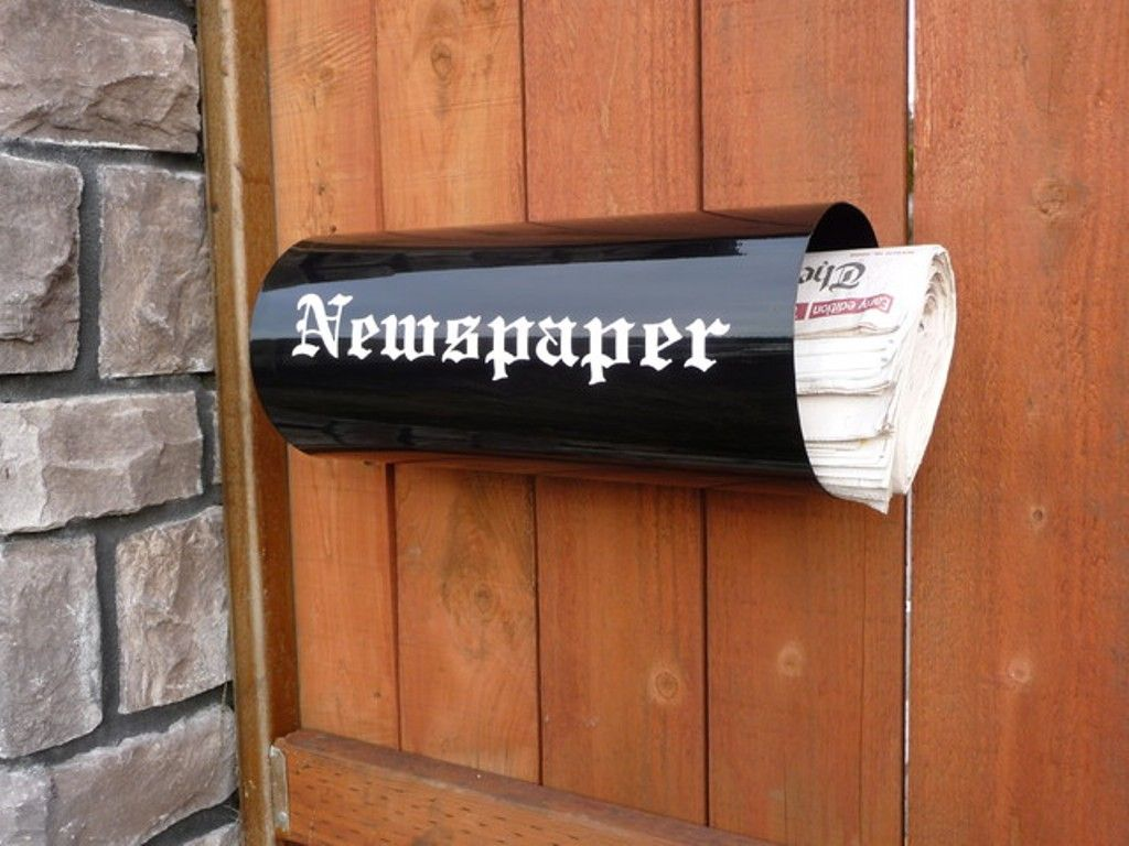 Image of: Mailbox With Newspaper Holder For Apartments Ideas ...
