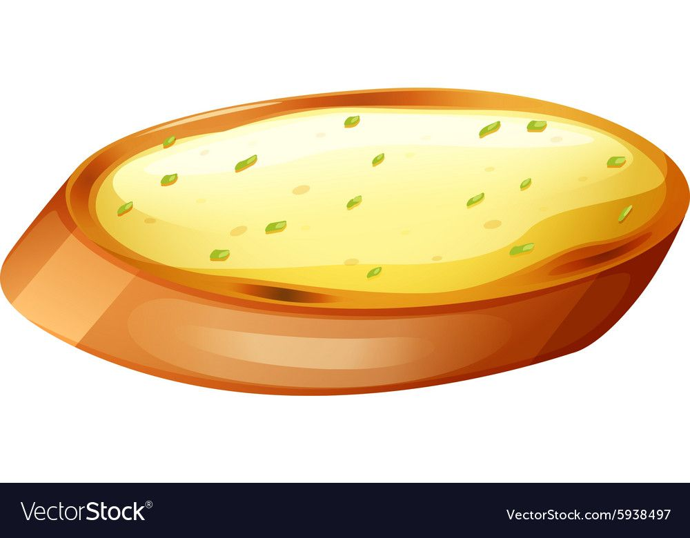 Garlic Bread With Cheese Vector Image On Vectorstock Garlic Cheese Bread Garlic Bread Garlic
