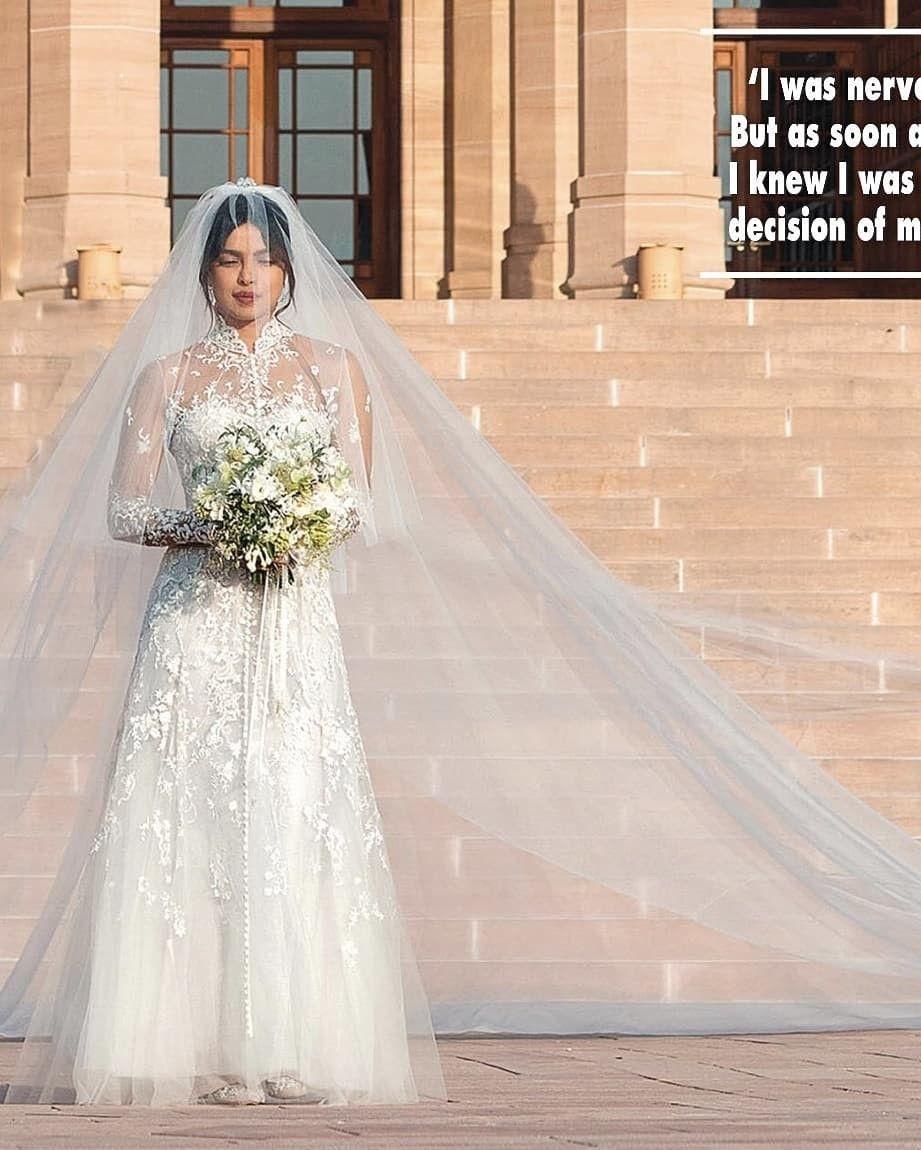 Priyanka Wedding White Gown: Priyanka Chopra Wedding, Hollywood