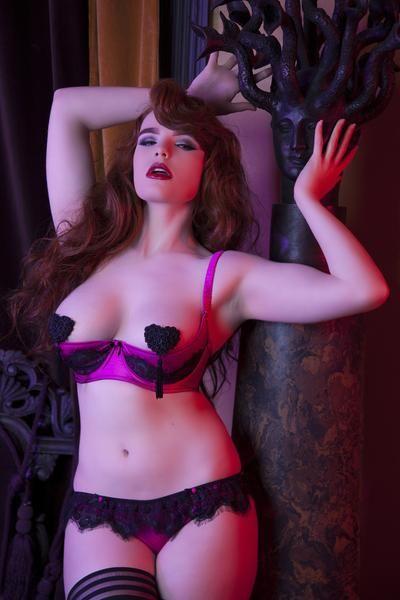 4028188ed black eyelash lace pink fuchsia satin rose skirt lingerie cupless open cup  shelf bra quartner cup full bust