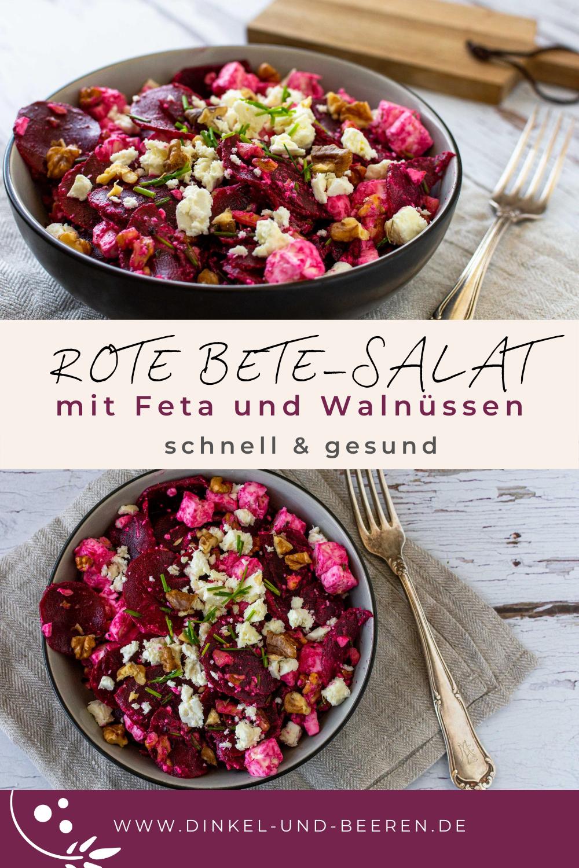 Rote Bete Salat mit Feta und Walnüssen schnell gesund