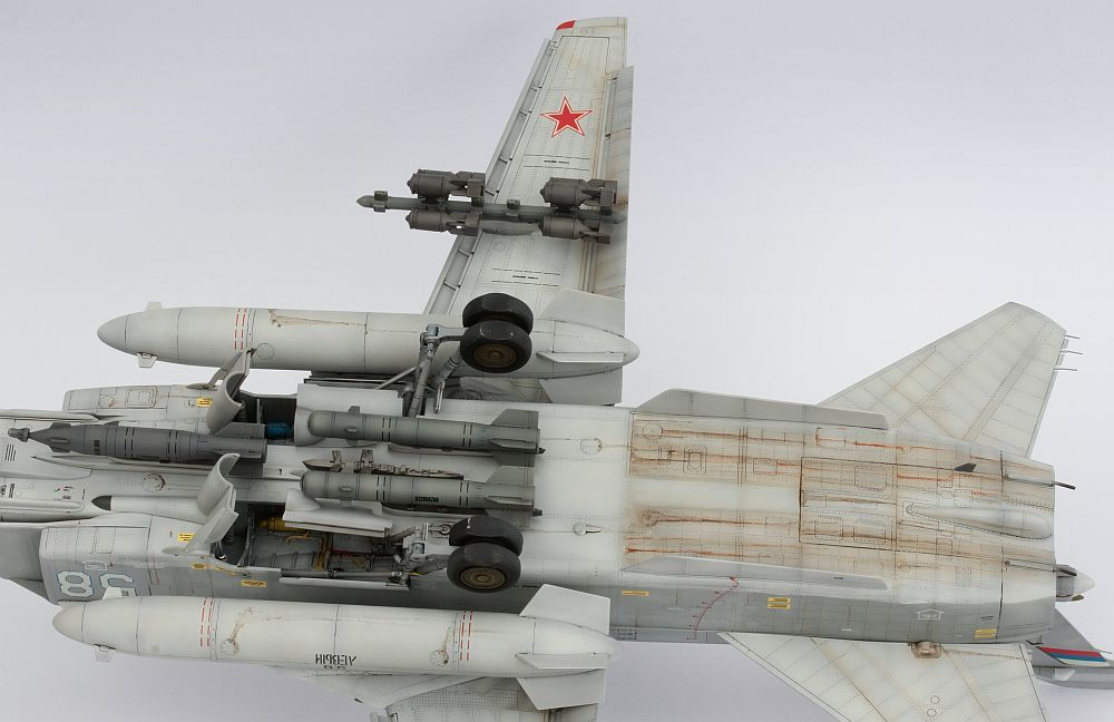 Page 1 of 6 - Su-24M Trumpeter 1/48 - posted in Ready for Inspection - Aircraft: Great Trumpeter kit full of errors, also from my side. I dont care... I added Aires cockpit, wheel bays and Begemot decals ( a bit more than should be  ). Mastercaster weighted wheels. Pictures of this beast: