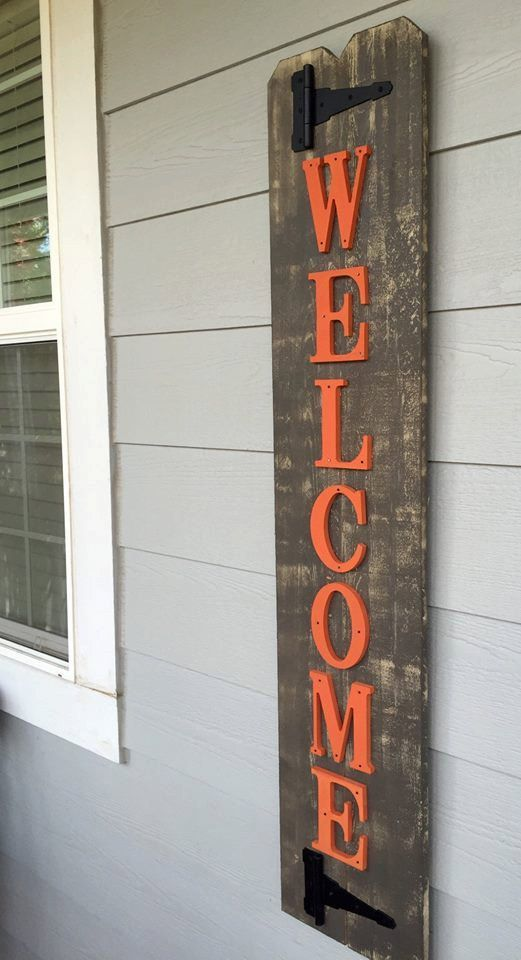 Distressed Welcome Sign - Fall Welcome Sign - Rustic Welcome Sign ...
