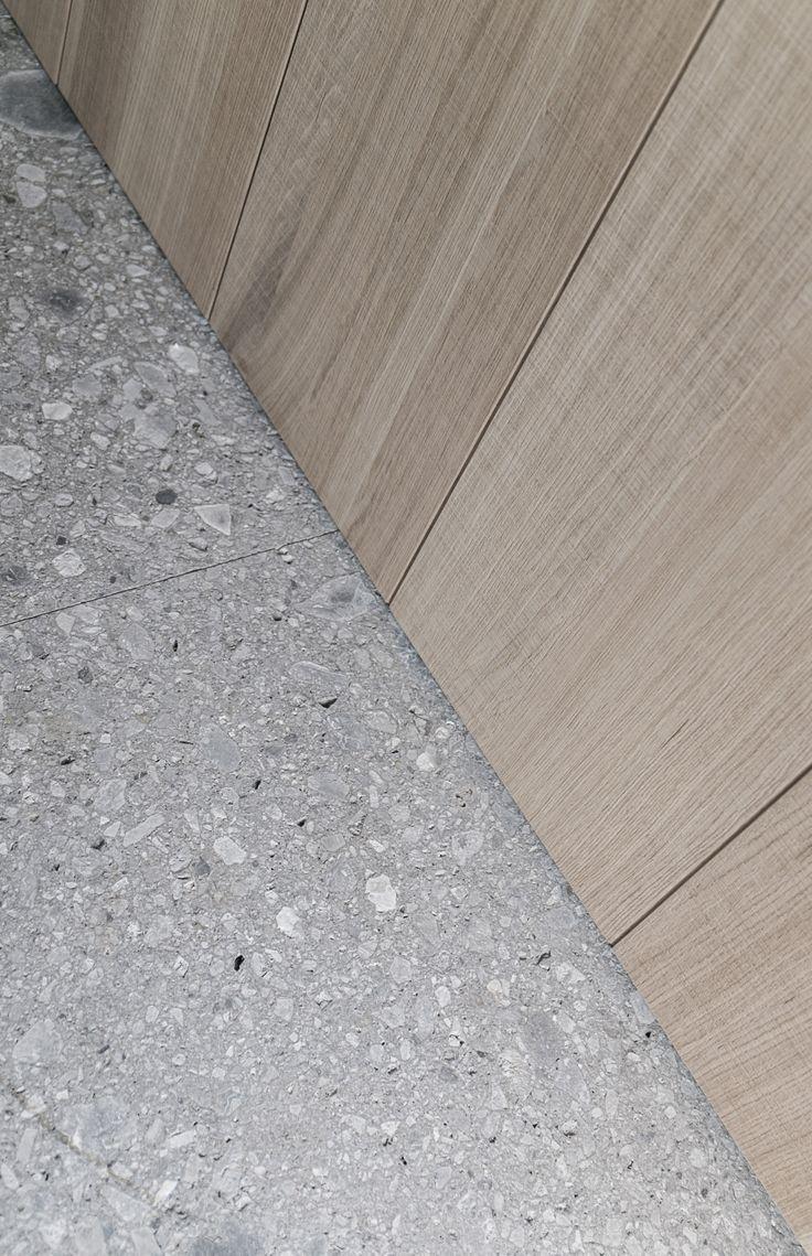 White Terrazo Floor But Ground Concrete With Pigment