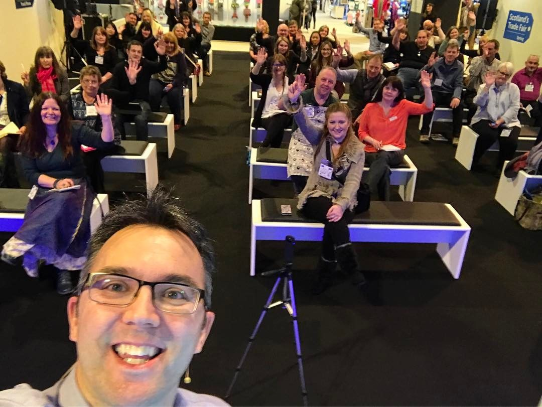 Busy morning running a #FastandFurious #Facebook workshop at Scotland's Trade Fair earlier!  Great turnout and super feedback from everyone!  Obviously I took a #selfie
