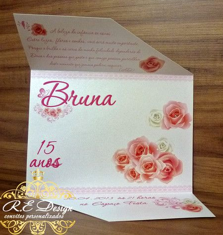Convite Garden ✿ Bruna ღ~✿~♥