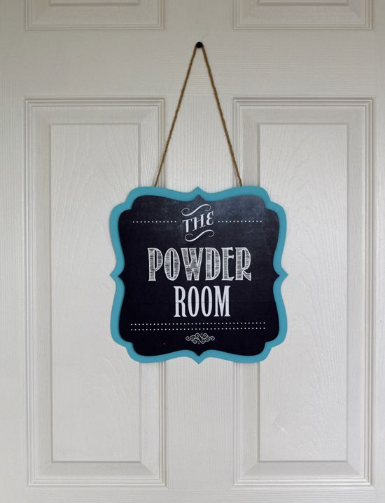 Captivating Room · Powder Room Sign ...