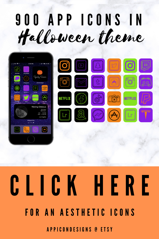 App Icons Halloween, app icons aesthetic black