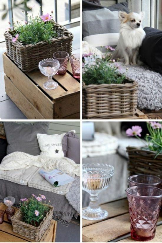 Great Tip For A Balcony Decoration. Tisch Selber Bauen Pflanzen Sommer  Balkon