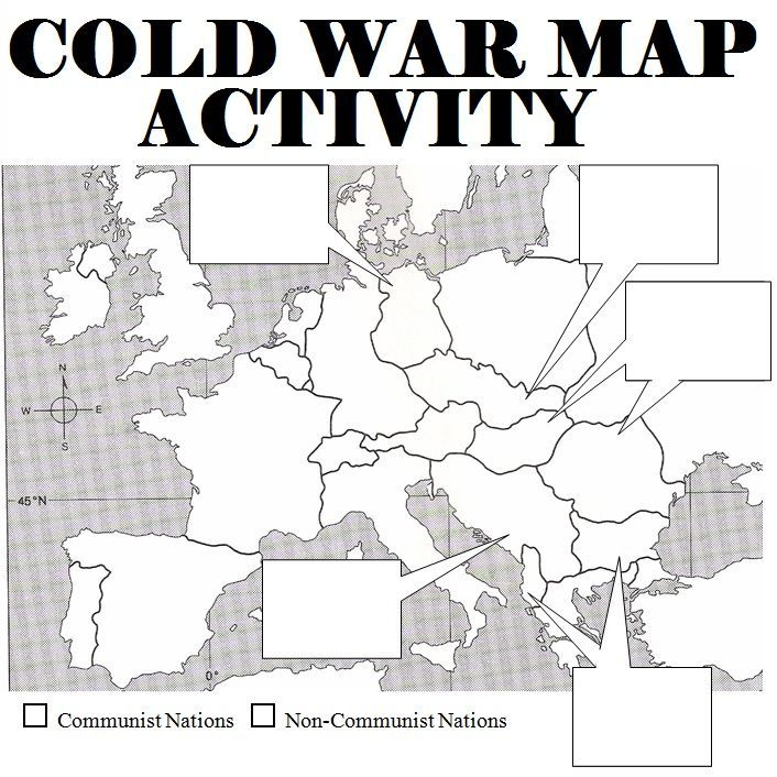 Cold war map activity cold war communism and map activities students are asked to label countries boundaries of europe and explain how countries fell to communism good activity after a cold war lesson gumiabroncs Images