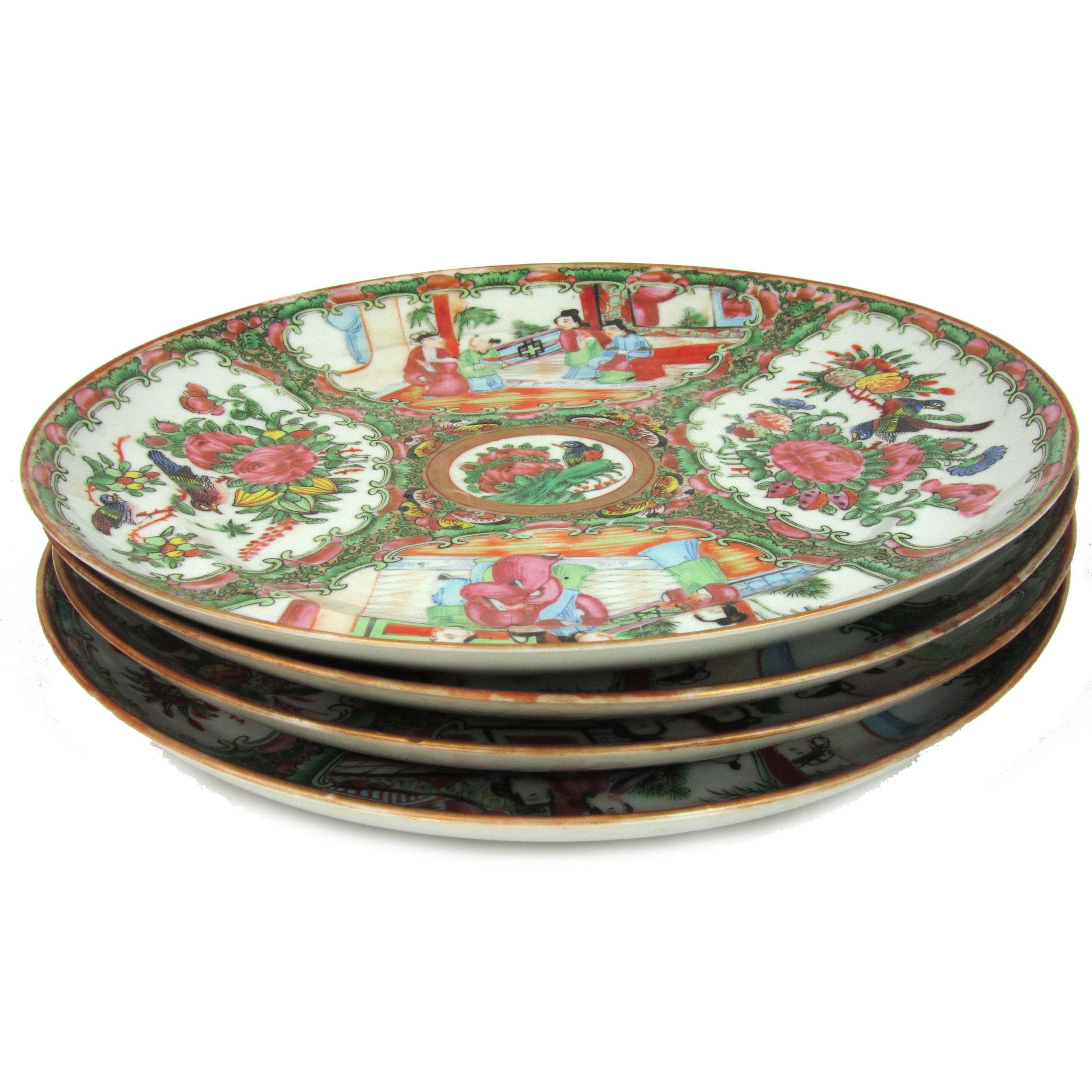 Antique Rose Medallion Chinese Porcelain Plates Set of 4  sc 1 st  Pinterest & Antique Rose Medallion Chinese Porcelain Plates Set of 4 | Products ...