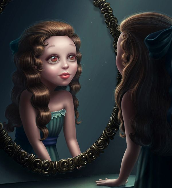Female Character in front of a Mirror #female #character #mirror