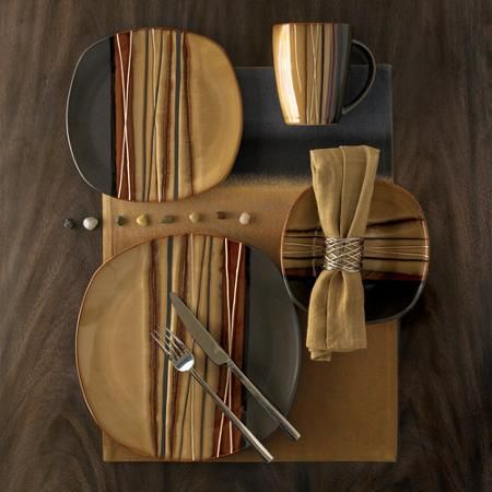 Better Homes and Gardens Bazaar 16pc Dinnerware Set Brown & Better Homes and Gardens Bazaar 16pc Dinnerware Set Brown | Dining ...