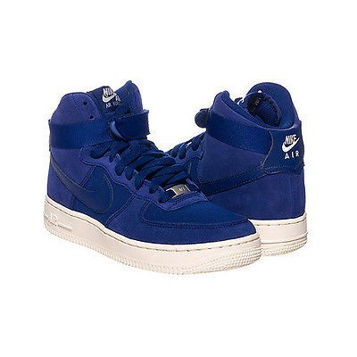 Nike Air Force 1 High Gs Kids 653998 400 Royal Blue Shoes