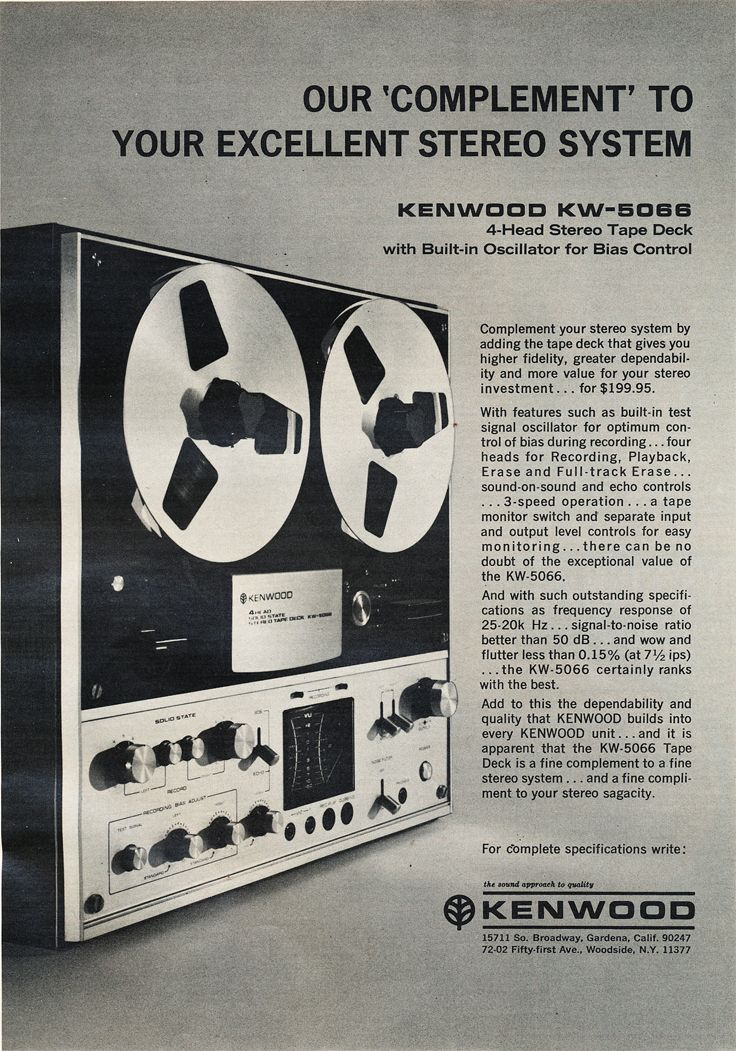 1971 Ad For The Kenwood Kw 6044 Reel To Reel Tape Recorder In