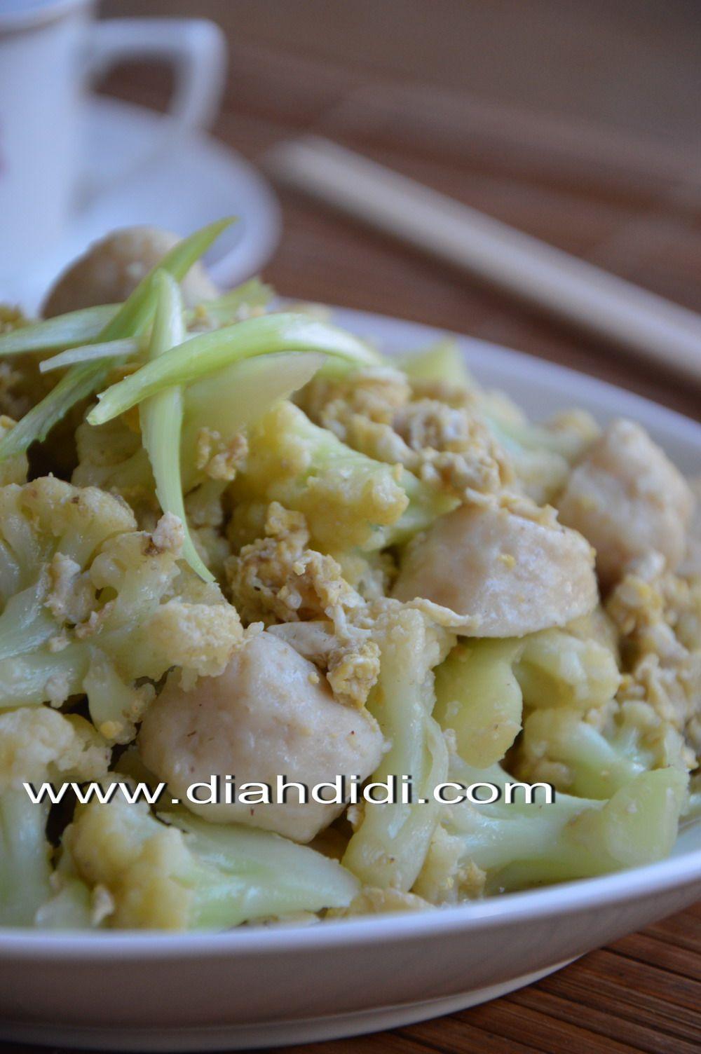 Menu Sarapan Mudah Dan Enak Orak Arik Bunga Kol Bakso Sarapan Resep Masakan Masakan