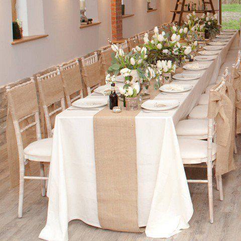 Chemin De Table En Toile De Jute Pas Cher Deco Table Mariage Chemin De Table Jute Decoration Table