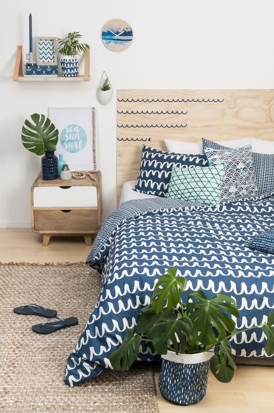 General Eclectic Blue Waves Bed Linen available at Shut the Front Door  http://