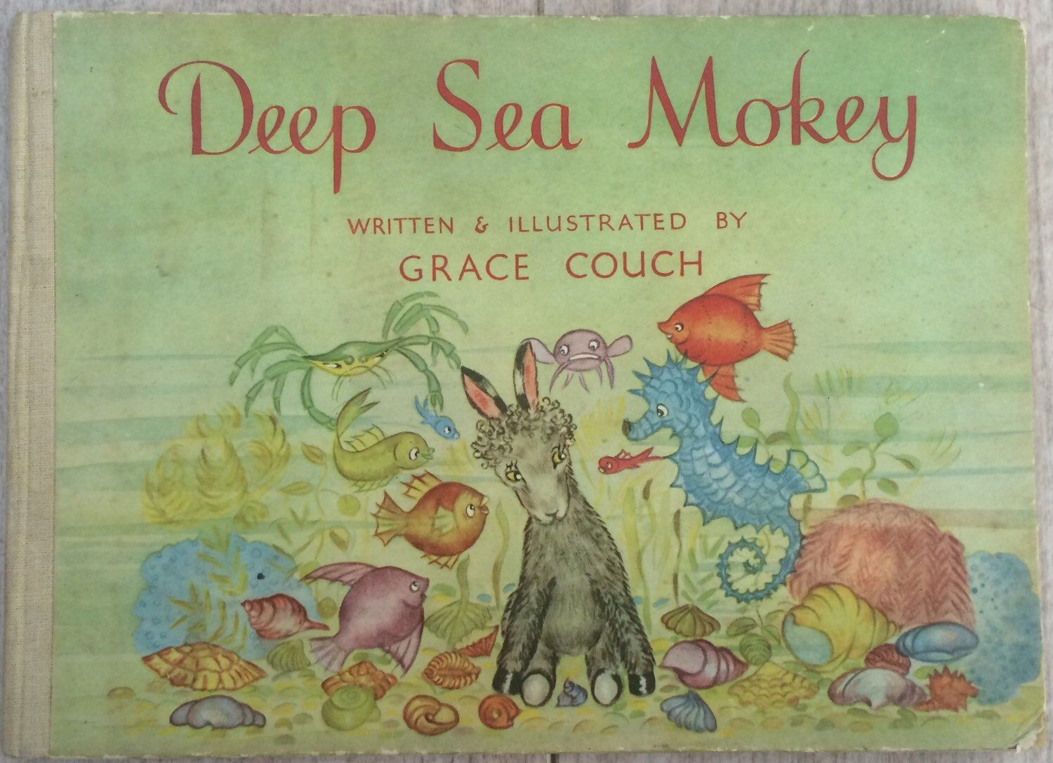 Deep Sea Monkey Written And Illustrated By Grace Couch Illustrated  Children's Book 1947 First Edition By