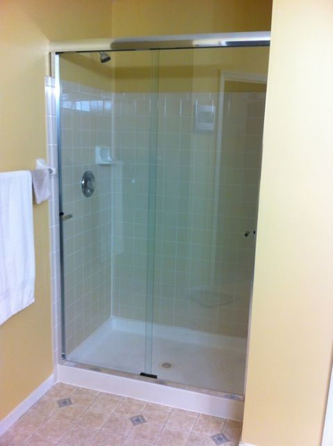 This Particular Client Requested The Unit Be Installed Substantially Above The Tile Line This Shower Doors Replacement Shower Doors Shower Door Installation