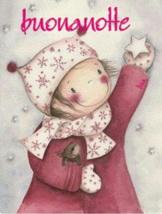 Stella Stellina Di Natale.Buonanotte Notte Stella Stellina Pensieri Illustrati Cute