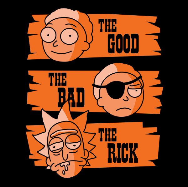 The Good Morty, The Bad Morty, and the Rick - NeatoShop