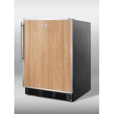 """Commercially Approved Freestanding All-refrigerator In Black With 32"""" Height For Ada Counters; Includes Lock And Stainless Steel Door Frame For Custom Panels"""