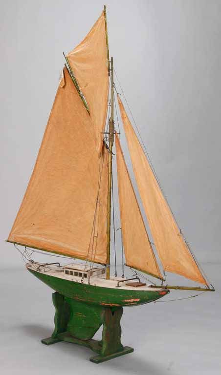English Pond Boat with Four Sails - 4 ft. 4.8 in. (134 cm) - c.1900