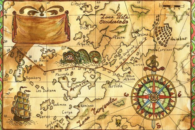 Resultado De Imagen De Mapa Pirata Real Imagenes De Mapas