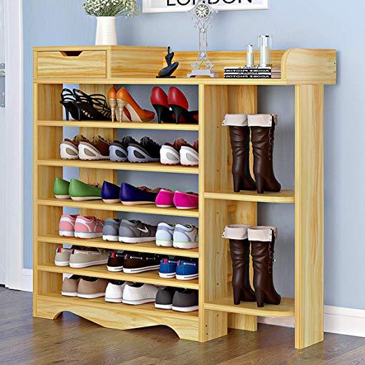Amazon Com Suninhome 1 Shoes Shelf Shoes Rack Storage Shoes Organizer 7 Tiers Multi Functional Free Standing Diy Shoes In 2020 Shoe Rack Closet Shoe Rack Shoe Shelf