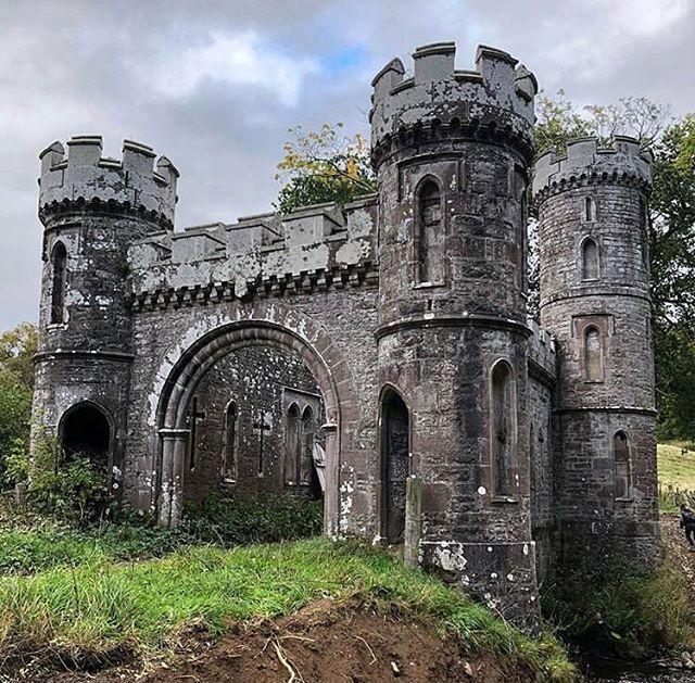 Monzie Castle Mid-Lodge, Built 1908. Fire Destroyed The