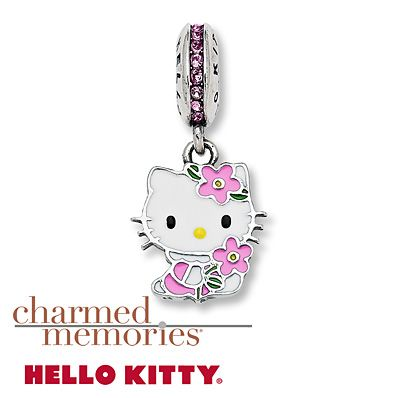37c6e5b34 Charmed Memories Hello Kitty Dangle Charm Sterling Silver | Hello ...