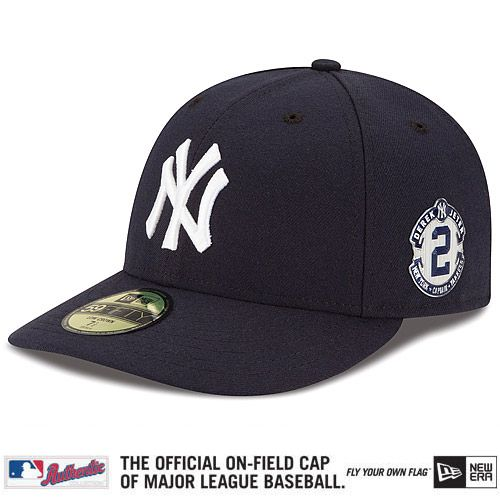 New York Yankees Authentic Collection Low Crown On Field 59fifty Game Cap With Derek Jeter Patch Mlb Com Shop Derek Jeter Yankees New York Yankees