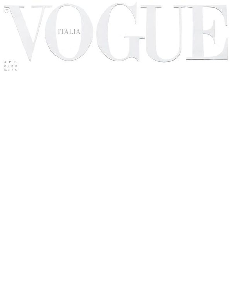Vogue Italia April 2020 Cover Vogue Italia Vogue Italia Magazine Cover Template Vogue