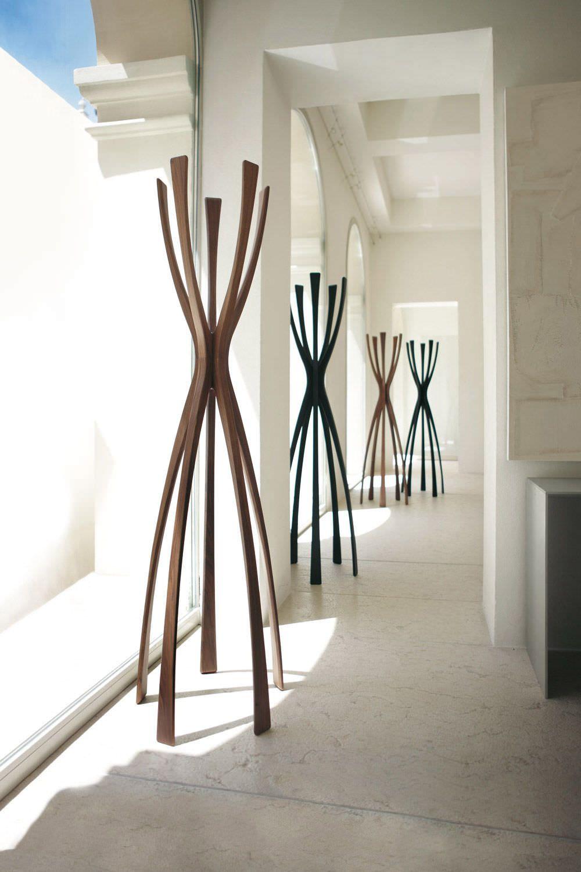 Elegant Porte Manteau Sur Pied / Contemporain / En Noyer / En Métal   FLAMINGO By  G. Carollo   Porada