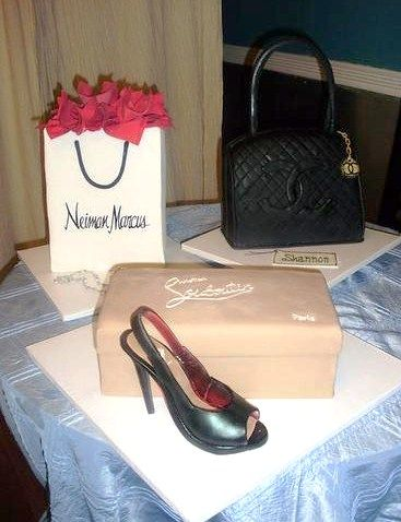 Neiman Marcus Shopping Bag Christian Louboutin Shoes And Chanel Purse Cake