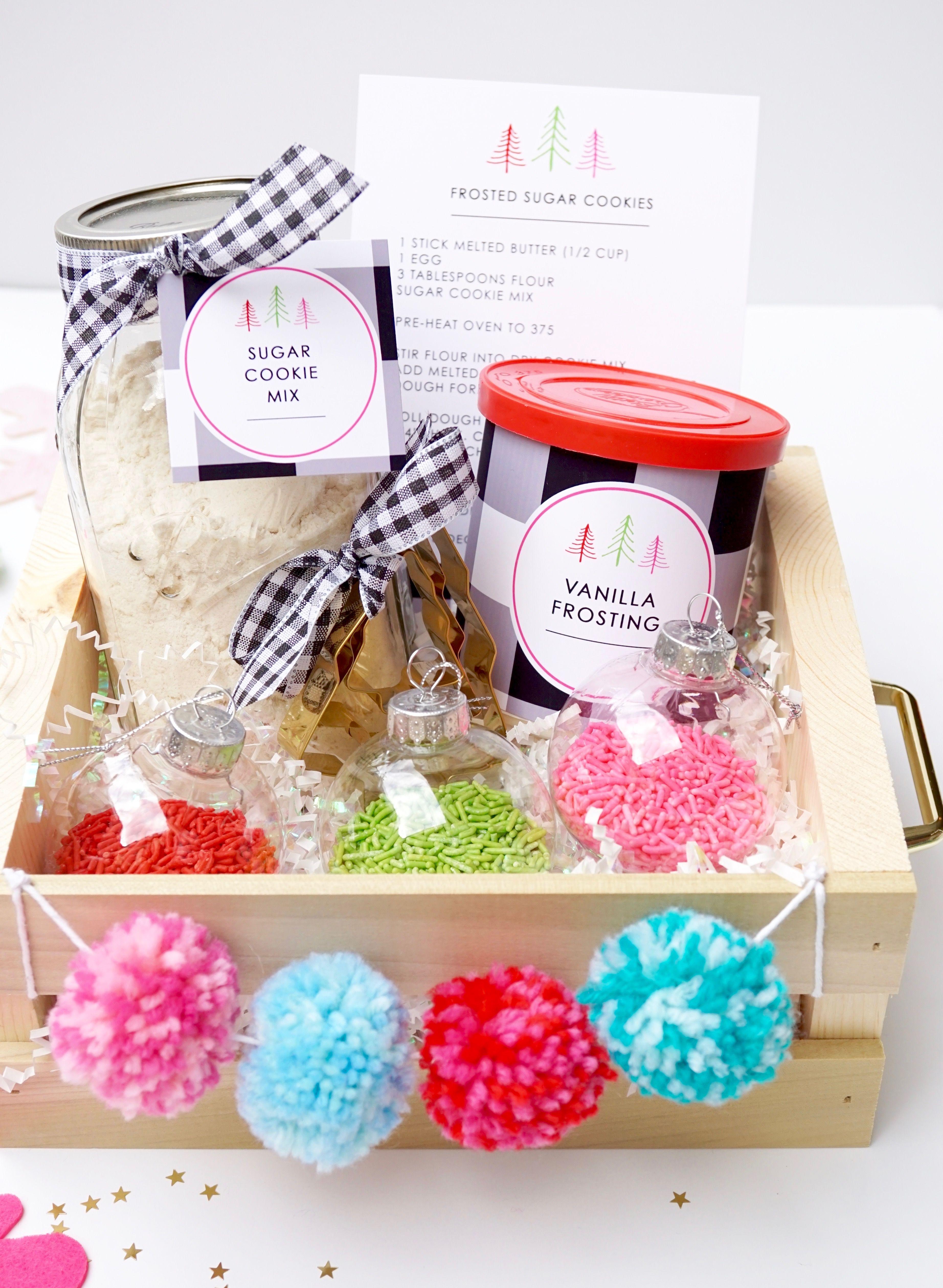 Diy holiday cookie kit teachers gift cookie kit free