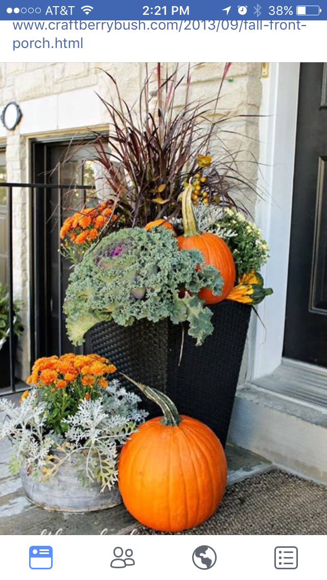Pin By Lavada Pace On Fall Decorating Fall Planters Fall
