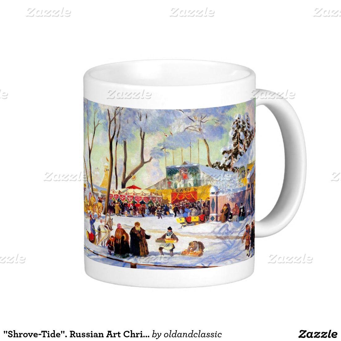 """Shrove-Tide"". Russian Art Christmas Gift Mugs | Zazzle ..."