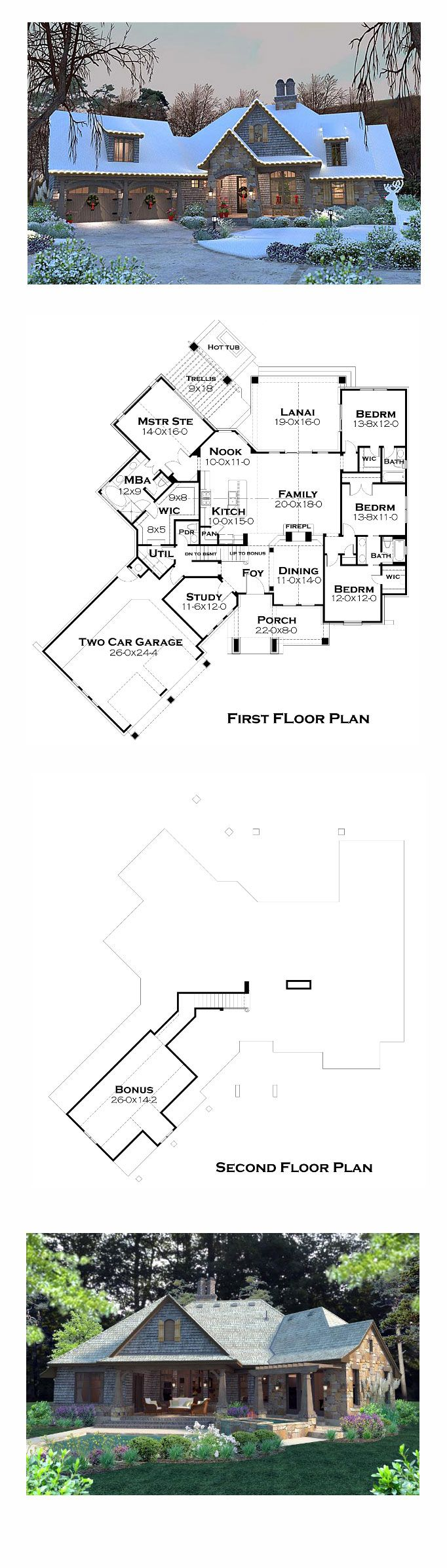 Cottage craftsman french country house plan 75134 for Best selling floor plans