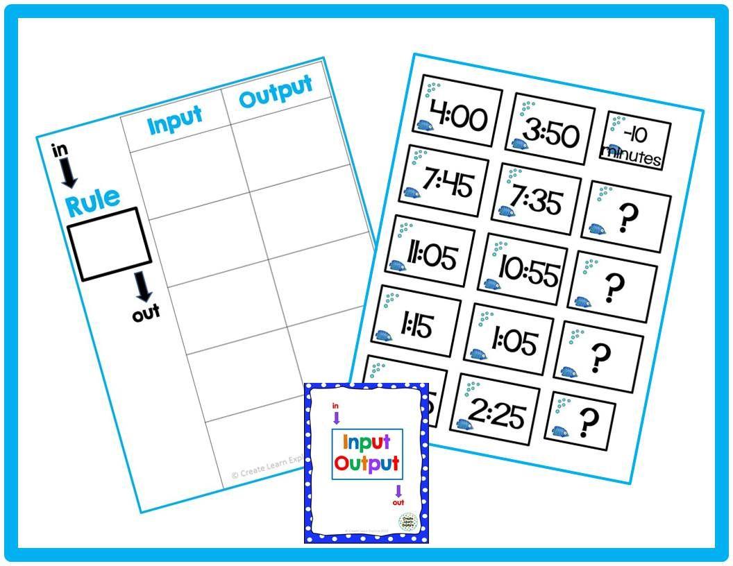 Input Output Math Worksheet