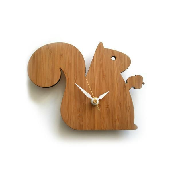 This Beautiful Handcrafted Bamboo Clock Has Contrasting White Hands To Help You Tell Time The Surface Is Finis Small Wall Clock Modern Clock Wall Clock Modern
