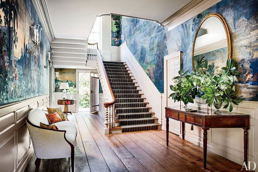 The Aesthete Printed Wall Coverings Scenic Wallpaper Georgian Homes Architectural Digest