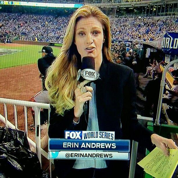 Erin Andrews on Game 2 in 2014WS at Kansas City, MO