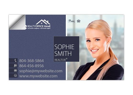 Real Estate Business Card Stickers Template 08 Business Card Stickers Real Estate Business Cards Digital Business Card Realtor Business Cards