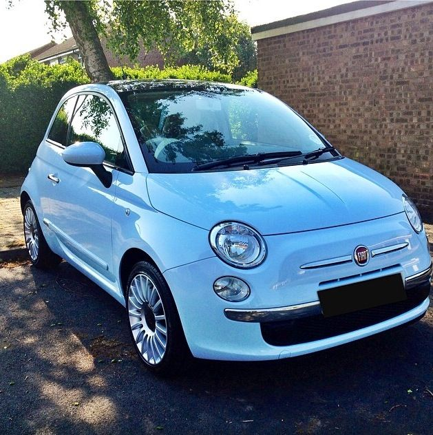 Fiat 500 In Chacha Azure Blue With Images Fiat 500 Fiat 500c