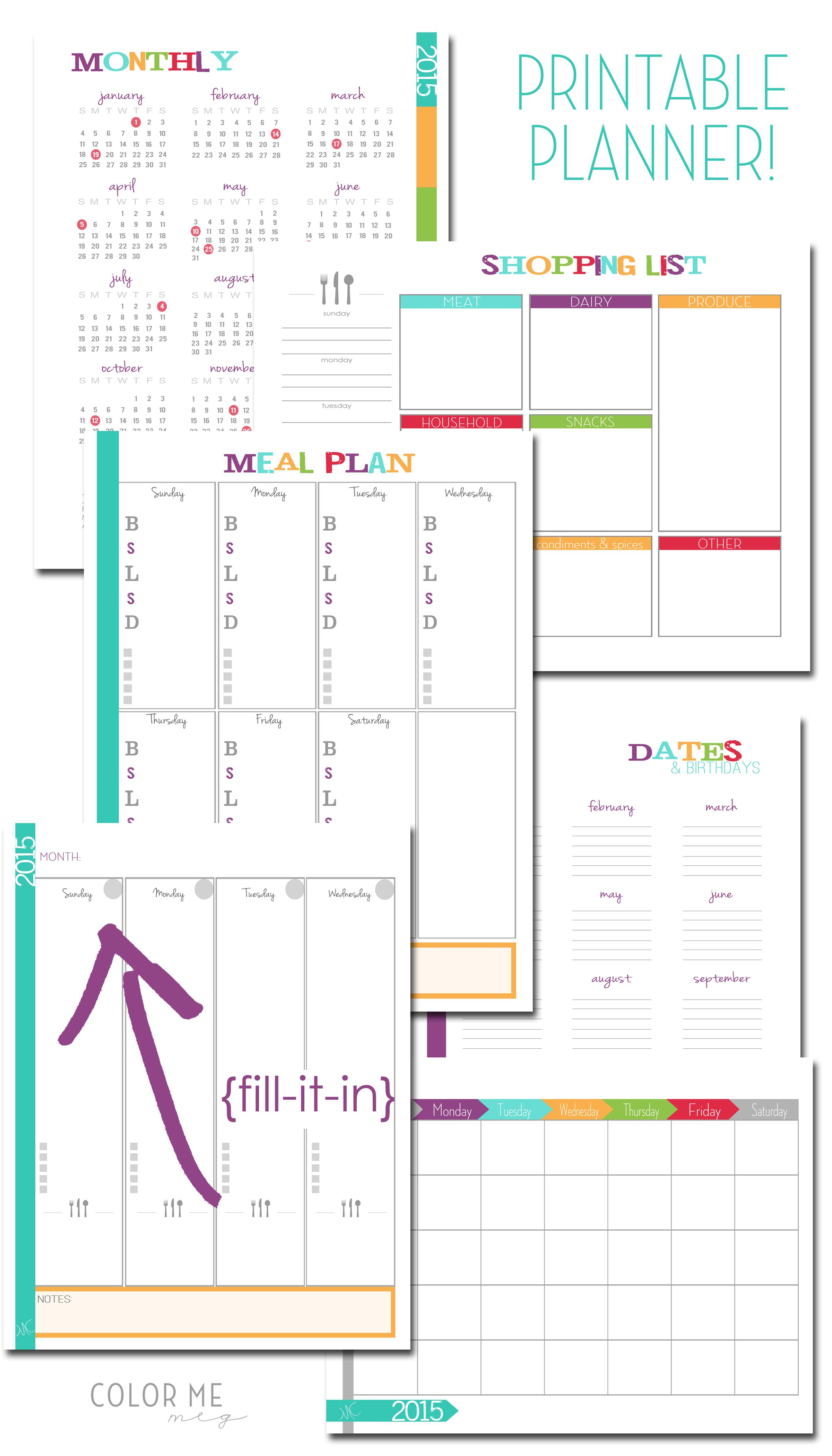 New Printable Planner