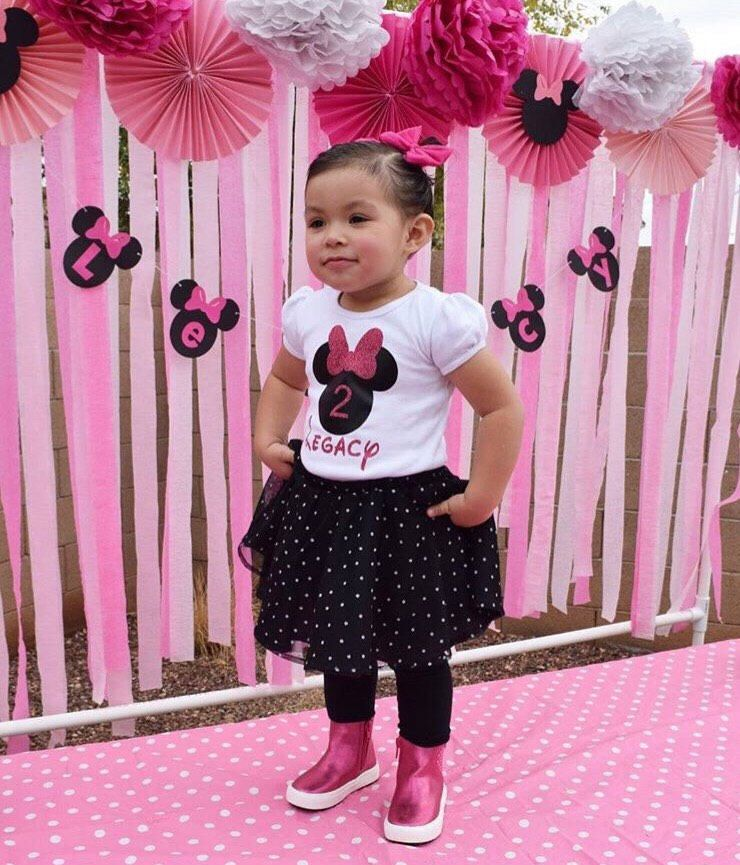 Minnie Mouse Party Supplies Minnie Mouse Birthday Minnie Mouse Shirt